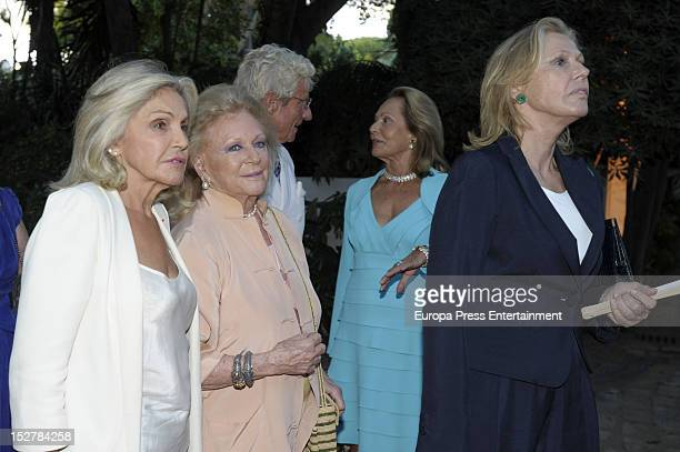 Beatriz de Orleans and Ana Gamazo attend the homage to Count Rudi Rudolf Graf Von Shourg in his 80th birthday on September 25 2012 in Marbella Spain