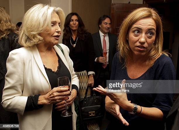 Beatriz de Orleans and Carme Chacon attend Champagne awards 2014 at Wellington hotel on November 6 2014 in Madrid Spain