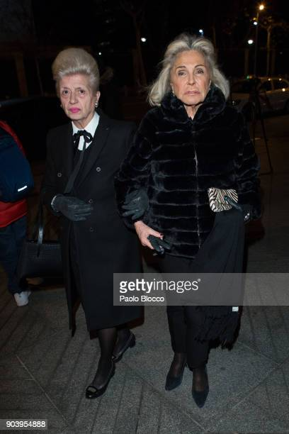 Beatriz de Orleans attends the funeral mass for Carmen Franco daughter of the dictator Francisco Franco at the 'Francisco de Borja' church on January...