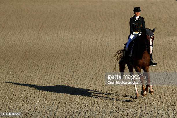 Beatriz Ferrer-Salat of Spain riding Delgado competes during Day 4 of the Longines Grand Prix Special FEI Dressage European Championship presented by...