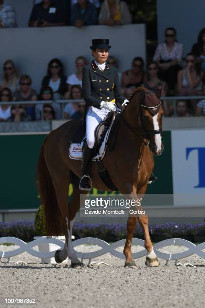 Beatriz FerrerSalat of Spain riding Delgado during the dressage individual Final Grand Prix of Aachen Freestyle to music CDIO Deutsche Bank Prize in...