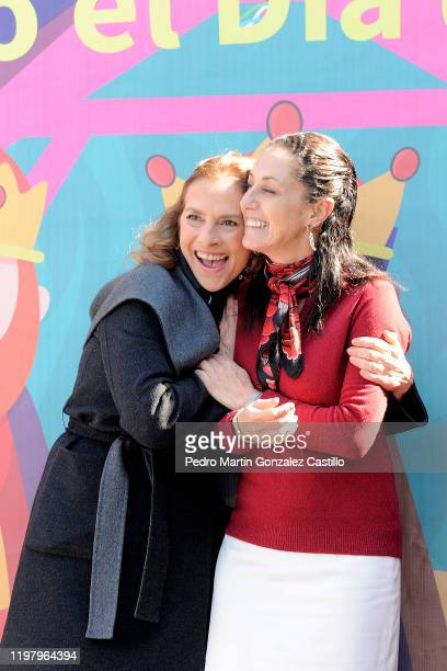 Beatriz Gutiérrez Mueller and Claudia Sheinbaum pose for a photo during the Three Kings Day celebrations in the Zocalo on January 6 2020 in Mexico...