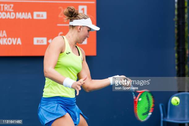 Beatriz Haddad Maia in action during the Miami Open on March 18 2019 at Hard Rock Stadium in Miami Gardens FL