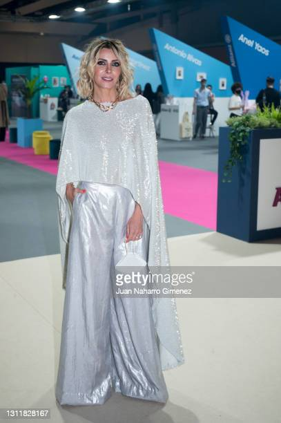 Beatriz Jarrin attends Angel Schlesser fashion show during the Merecedes Benz Fashion Week April 2021 edition at Ifema on April 10, 2021 in Madrid,...