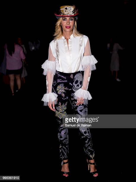 Beatriz Jarrin attends the front row of Garcia Madrid show during Mercedes Benz Fashion Week Madrid on July 10 2018 in Madrid Spain