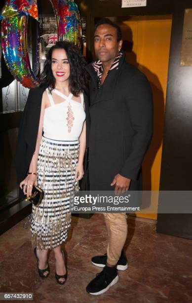 Beatriz Luengo and Yotuel Romero attend the Monica Cruz's 40th birthday party on March 14 2017 in Madrid Spain