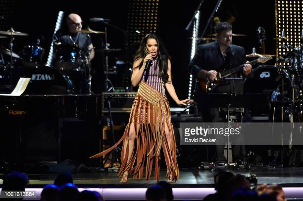 Beatriz Luengo performs onstage at the Person of the Year Gala honoring Mana during the 19th annual Latin GRAMMY Awards at the Mandalay Bay Events...