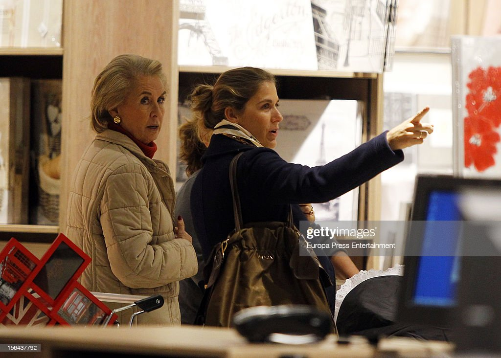Beatriz Mira and her mother-in-law Carmen Garaizabal are seen on November 14, 2012 in Madrid, Spain.