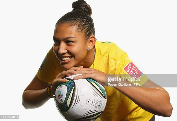 Beatriz of Brazil during the FIFA portrait session on June 26 2011 in Dusseldorf Germany