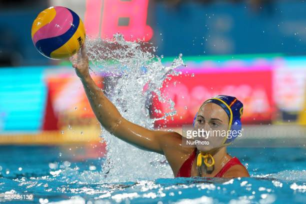 Beatriz Ortiz Munoz of Spain during the Women's Water Polo gold medal match between the United States and Spain on day fifteen of the Budapest 2017...
