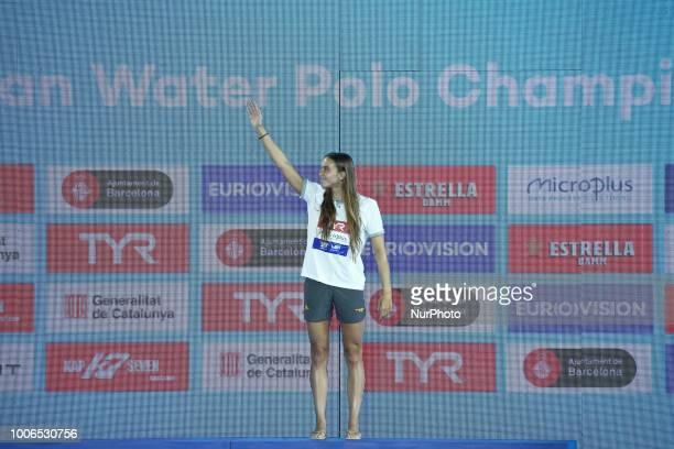 Beatriz Ortiz top scorer of the women European Water Polo Championships on 27th July in Barcelona Spain