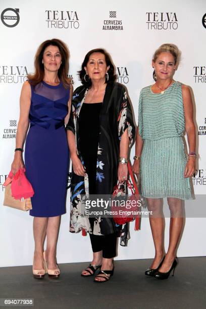 Beatriz Perez Aranda , Carla Royo-Villanova and Nieves Fontana attend the tribute gala to Paco Rabanne at Real Academia de Bellas Artes de San...