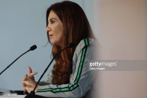 Beatriz Ramos Chief of communication and image of the FEMEXFUT talks to the media about the future plans inside the Federation and National Team...
