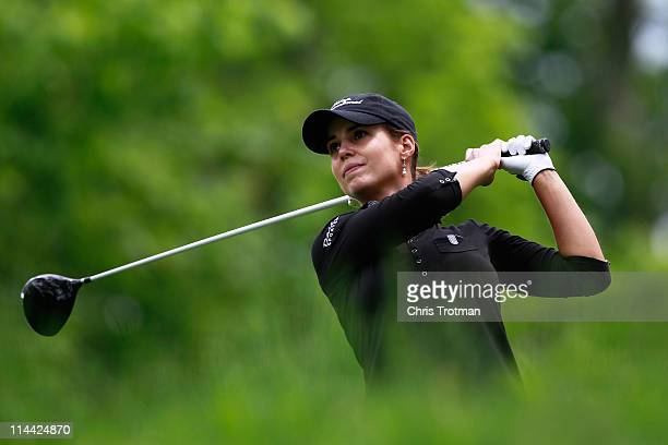 Beatriz Recari of Spain hits her tee shot on the second hole during round one of the Sybase Match Play Championship at Hamilton Farm Golf Club on May...