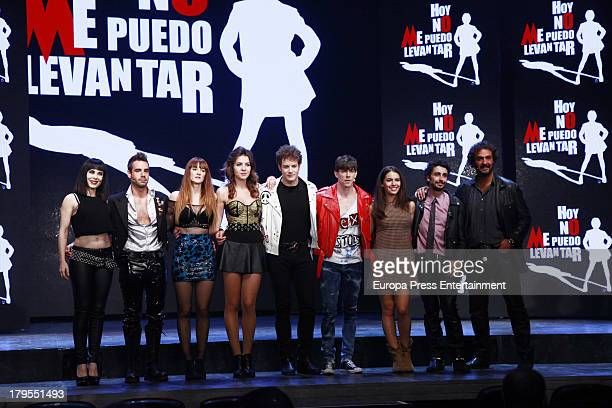 Beatriz Ros David Carrillo Ana Polvorosa Andrea Guasch Daniel Diges Adrian Lastra Claudia Traisac Canco Rodriguez and Alejandro Vega dance during...