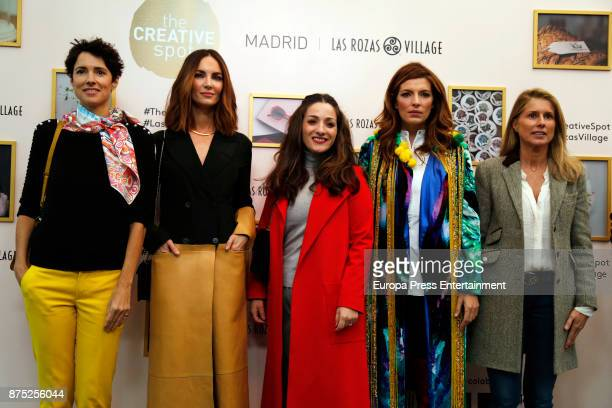 Beatriz Silveira Sara Galindo Eugenia Silva and Maria Chavarri attend the opening of the pop up boutique 'The Creative Spot Madrid' at Las Rozas...