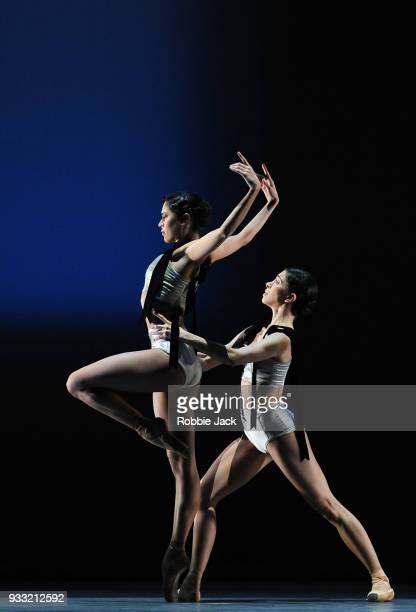 Beatriz StixBrunell and Yasmine Naghdi in the Royal Ballet's production of Christopher Wheeldon's Corybantic Games at the Royal Opera House on March...