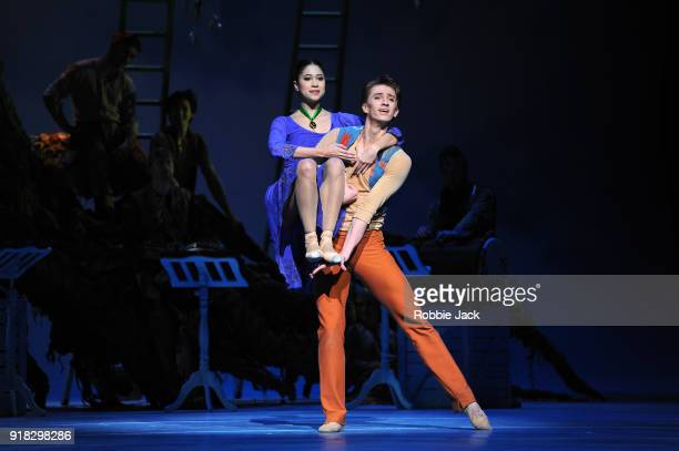Beatriz StixBrunell as Perdita and Vadim Muntagirov as Florizel in the Royal Ballet's production of Christopher Wheeldon's The Winter's Tale at the...