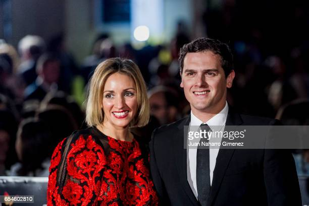 Beatriz Tejuelo and Albert Rivera attend the red carpet of the Gala Inaguration during the 20th Malaga Spanish Film Festival at the Cervantes Theater...