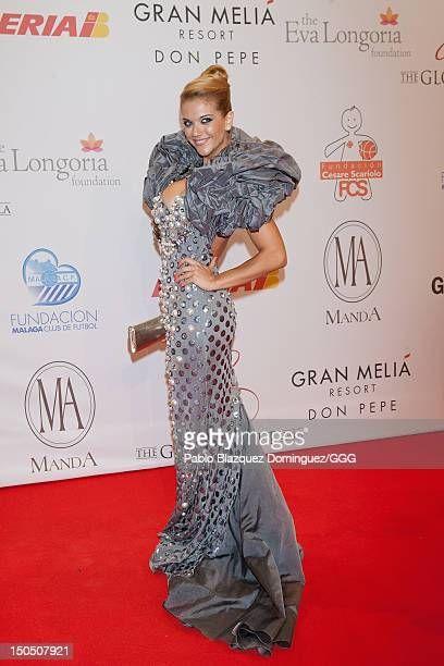 Beatriz Trapote attends the Global Gift Gala held to raise benefits for Cesare Scariolo Foundation and Eva Longoria Foundation on August 19, 2012 in...