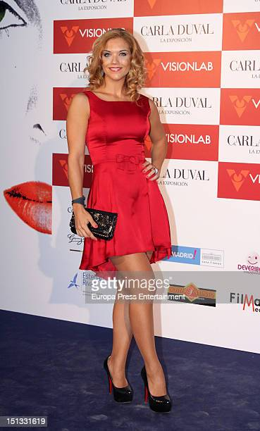 Beatriz Trapote attends the painting exhibition of Carla Duval at Casa de Vacas on September 5 2012 in Madrid Spain