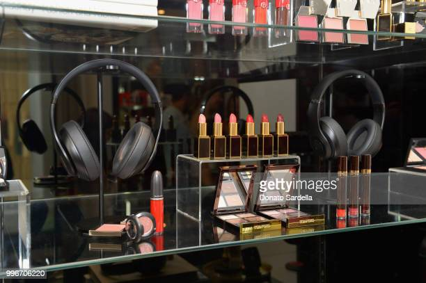 Beats by Dre for VIOLET GREY headphones are seen on display during Beats by Dre for VIOLET GREY Party on July 11 2018 in Los Angeles California