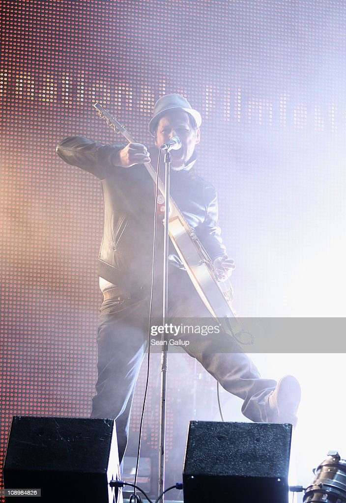 Beatsteaks perform at the grand opening ceremony during the opening day of the 61st Berlin International Film Festival at Berlinale Palace on February 10, 2011 in Berlin, Germany.