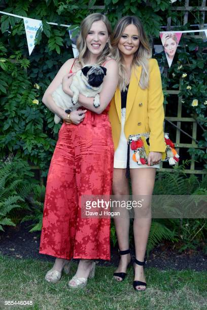 Beattie Edmondson and Emily Atack attend the UK premiere of 'Patrick' at an exclusive private London garden on June 27 2018 in London England