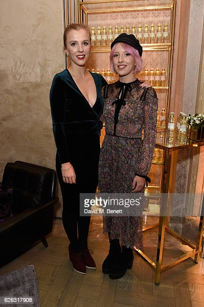 Beattie Edmonson and Freya Edmondson attend the launch of the London Essence Company at The Connaught Hotel on November 28, 2016 in London, England.