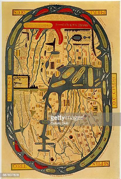 Beatus map of the world Saint Beatus of Liebana Spanish monk theologian and geographer 730 800