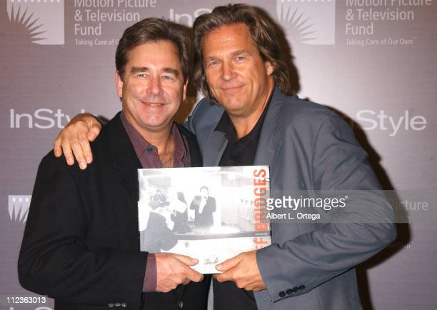 Beau and Jeff Bridges during Opening Of Jeff Bridges' Exhibition Hosted By In Style Sales Of 'Pictures' To Benefit Motion Picture Television Fund at...