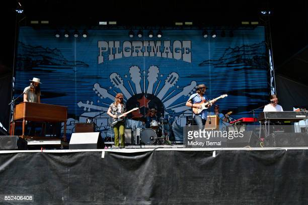 Beau Bedford Nik Lee Daniel Creamer Matt McDonald and Ryan Ake perform during Pilgrimage Music Cultural Festival on September 23 2017 in Franklin...