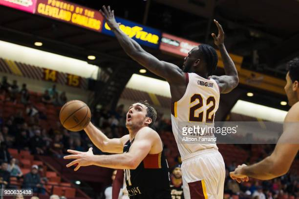 Beau Beech of the Erie BayHawks goes to the basket against the Canton Charge on March 11 2018 at Canton Memorial Civic Center in Canton Ohio NOTE TO...
