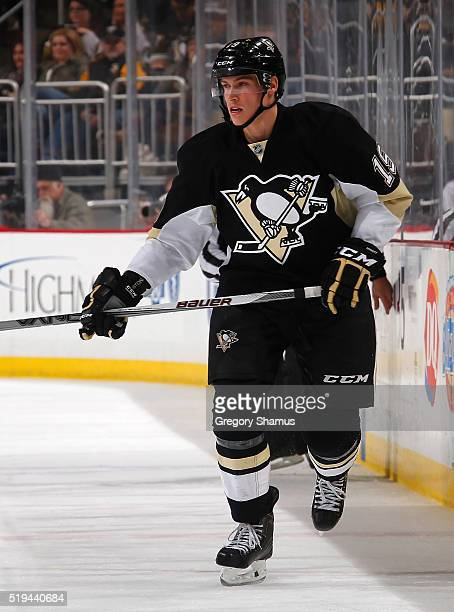 Beau Bennett of the Pittsburgh Penguins skates against the Nashville Predators at Consol Energy Center on March 31 2016 in Pittsburgh Pennsylvania