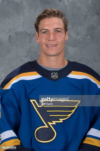 Beau Bennett of the St Louis Blues poses for his official headshot for the 20172018 season on September 14 2017 in St Louis Missouri