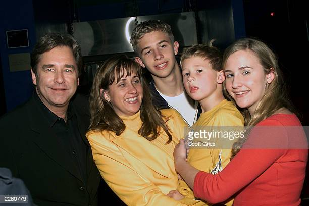 Beau Bridges poses for a photo with his family wife Wendy son Dylan son Zeke and his daugther Emily Mr Bridges was at Planet Hollywood in New York...