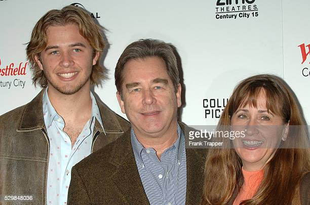 Beau Bridges wife Wendy and son Dylan arrive at the premiere of The Producers held at the new AMC Century 15 theatre in Century City
