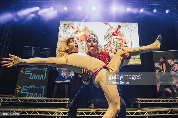 Beau Brooks of The Janoskians performs on stage at O2 Academy Leeds on September 1, 2015 in Leeds, England.