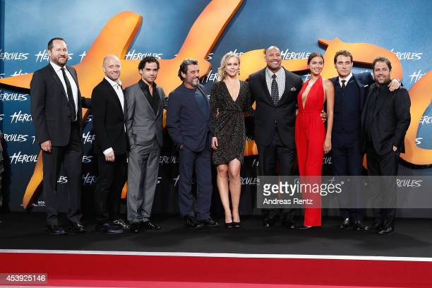 Beau Flynn Aksel Hennie Reece Ritchie Ian McShane Ingrid Bolso Berdal Dwayne Johnson Irina Shayk Rufus Sewell and Brett Ratner attend the Europe...