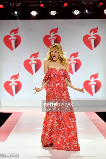 Beau Garrett walks the runway for The American Heart Association's Go Red For Women Red Dress Collection 2019 Presented By Macy's at Hammerstein...