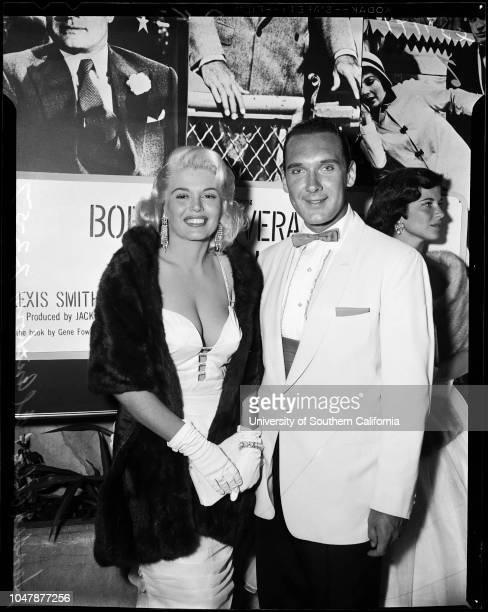 Beau James premiere 02 July 1957 Alexis SmithSamuel FirksVera MilesMamie Van DornMickey HargitayJayne MansfieldVikki DouganCaption slip reads...