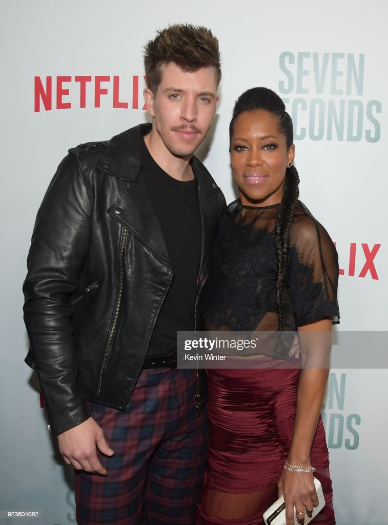 Beau Knapp (L) and Regina King attend the premiere of Netflix's 'Seven Seconds' at The Paley Center for Media on February 23, 2018 in Beverly Hills, California.