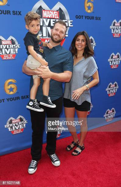 Beau Kyle Dykstra Cutter Dykstra and actress JamieLynn Sigler attend Marvel Universe Live Age of Heroes world premiere at Staples Center on July 8...