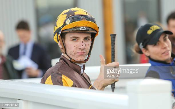 Beau Mertens returns to the mounting yard on Tracey's Star after winning Batteryzone Delkor Cup Class 1 Handicapat Racingcom Park Racecourse on May...
