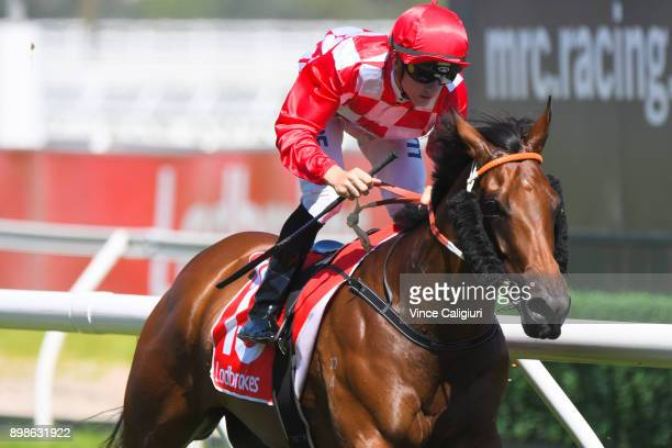 Beau Mertens riding Bella Martini wins Race 5 during Melbourne Racing at Caulfield Racecourse on December 26 2017 in Melbourne Australia