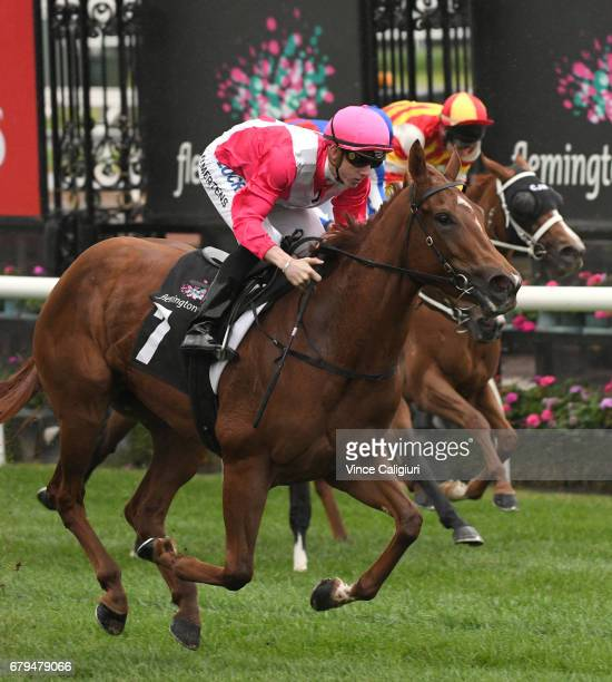 Beau Mertens riding Divine Quality in Race 5 during Melbourne Racing at Flemington Racecourse on May 6 2017 in Melbourne Australia