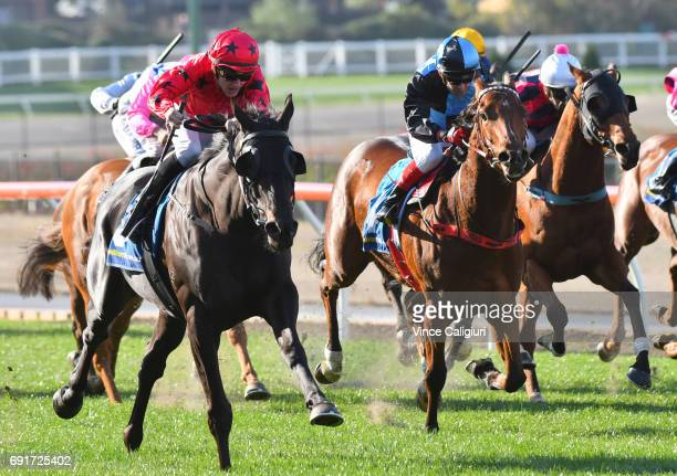 Beau Mertens riding Greviste wins Race 4 during Melbourne Racing at Moonee Valley Racecourse on June 3 2017 in Melbourne Australia