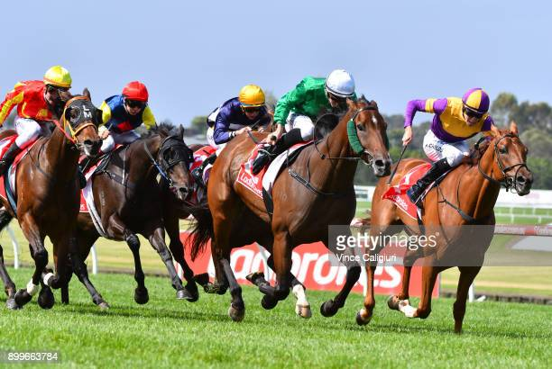 Beau Mertens riding Orient Line wins Race 7 during Melbourne Racing at Sandown Hillside on December 30 2017 in Melbourne Australia