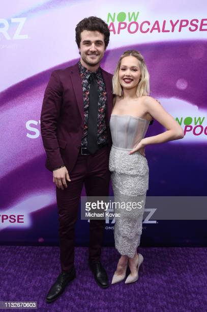 Beau Mirchoff and Kelli Berglund attend the Now Apocalypse Los Angeles Premiere at Hollywood Palladium on February 27 2019 in Los Angeles California
