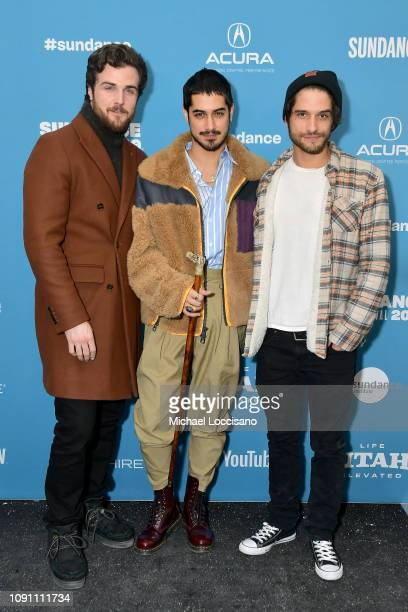 Beau Mirchoff Avan Jogia and Tyler Posey attend the Gregg Araki's New Starz Series Now Apocalypse Premiere during the 2019 Sundance Film Festival at...